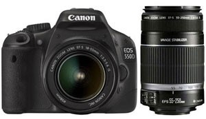 Canon EOS 550D + 18-55MM IS + 55-250MM IS