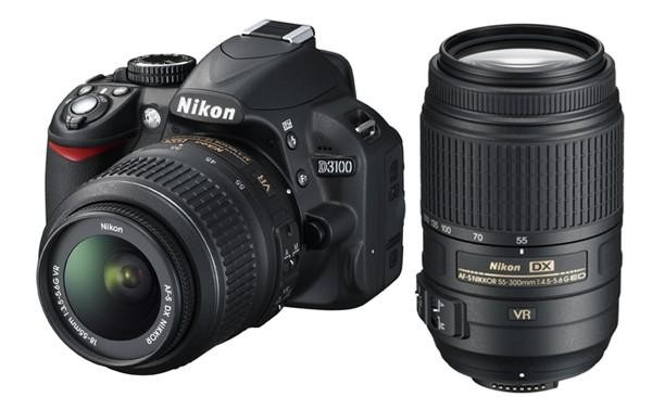 Nikon D3100 Digital SLR Camera with 18-55mm & 55-300mm NIKKOR VR Lenses